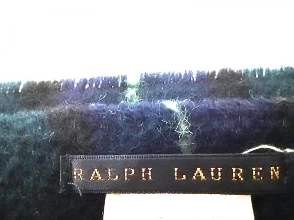 ラルフローレン ブランケット美品  ダークグリーン×ダークネイビー×マルチ ウール