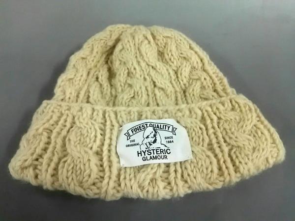 HYSTERIC GLAMOUR(ヒステリックグラマー) ニット帽美品  アイボリー ウール