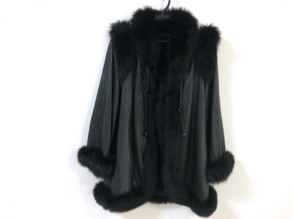 PARTINA(パルティーナ) コート サイズ31 レディース新品同様  黒 レザー/冬物