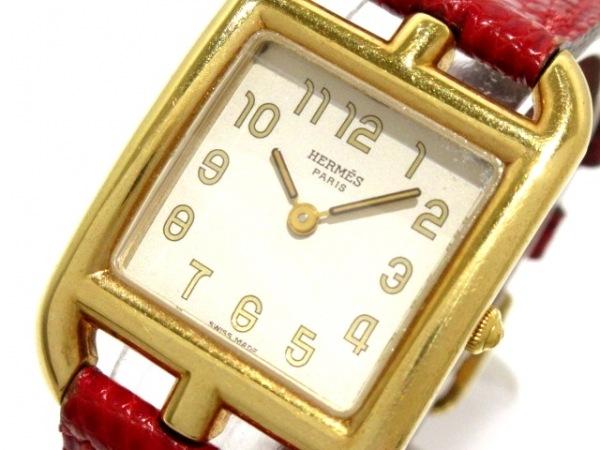 HERMES(エルメス) 腕時計 ケープコッド CC1.210 レディース 革ベルト/○U アイボリー