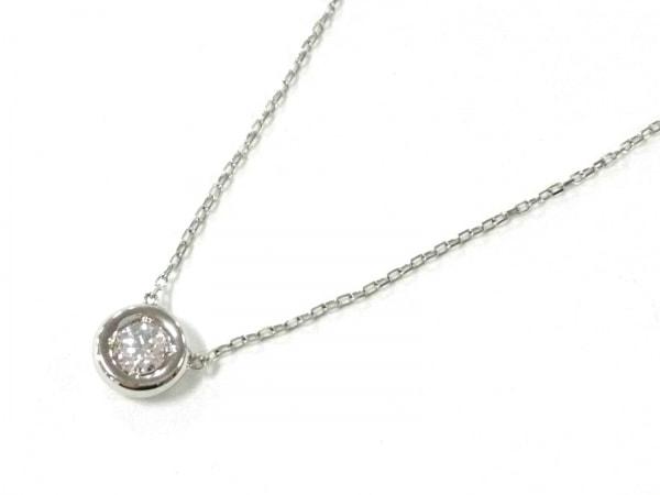 オレフィーチェ ネックレス美品  Pt950×ダイヤモンド 1Pダイヤ/ダイヤ0.15カラット