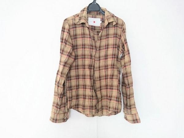 marka(マーカ) 長袖シャツ サイズ1 S メンズ ベージュ×マルチ チェック柄