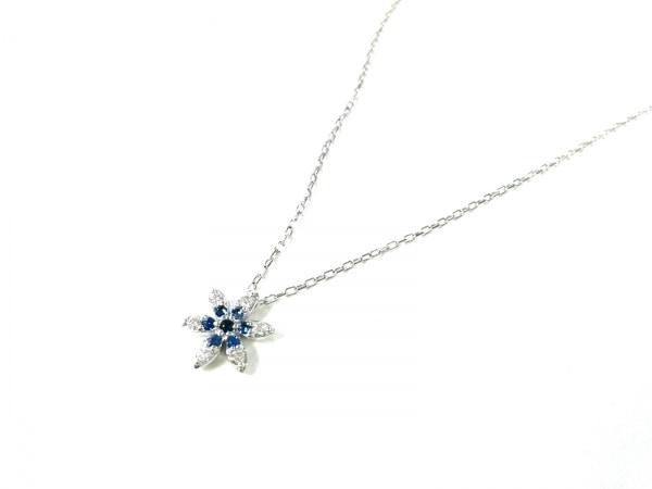 オレフィーチェ ネックレス美品  K18WG×ダイヤモンド×サファイア