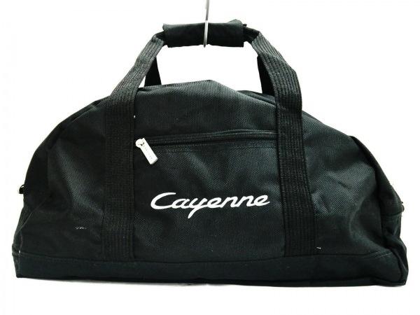 PORSCHE(ポルシェ) ボストンバッグ 黒 cayenne ナイロン