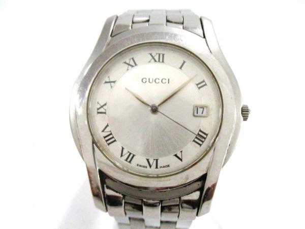 cfa8e70871e2 GUCCI(グッチ) 腕時計美品 5500M メンズ シルバー(13668193)中古 ...