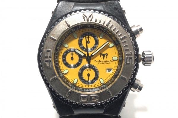 TECHNO MARINE(テクノマリーン) 腕時計 - メンズ ラバーベルト/クロノグラフ イエロー