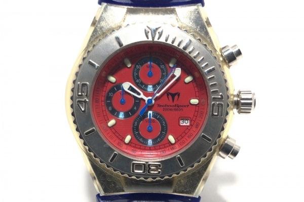 Techno Sport(テクノスポーツ) 腕時計 - メンズ ラバーベルト/クロノグラフ レッド