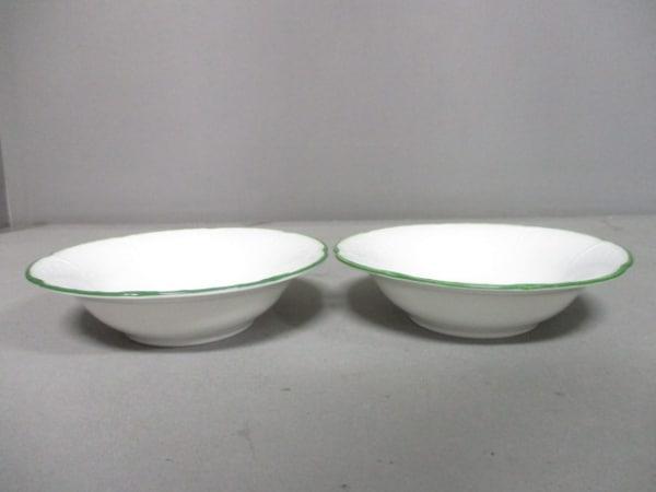 RAYNAUD(レイノー) 食器新品同様  白×グリーン 小皿×2 陶器