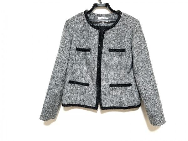 HANAE MORI(ハナエモリ) ジャケット サイズ42 L レディース美品  グレー×黒