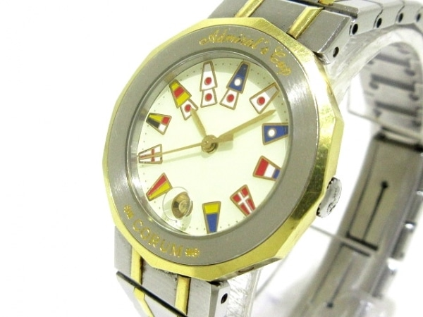 コルム 腕時計 アドミラルズカップ 39.610.21V52B レディース アイボリー×マルチ