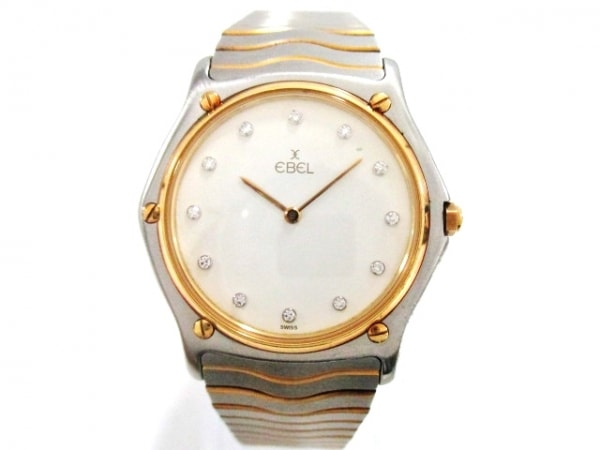 EBEL(エベル) 腕時計 クラシックウェーブ 14601177 メンズ 白