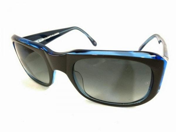オリバーゴールドスミス サングラス美品  RENZO グレー×ブルー プラスチック