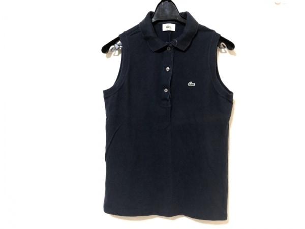 Lacoste(ラコステ) ノースリーブポロシャツ サイズ42 L レディース ネイビー