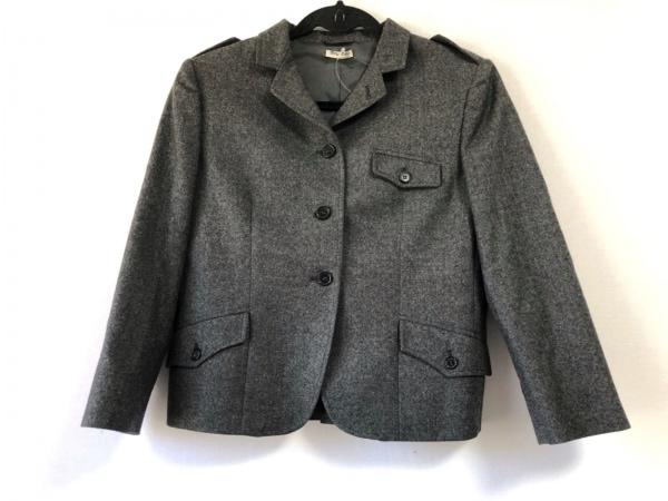 miumiu(ミュウミュウ) ジャケット サイズ42 M レディース ダークグレー