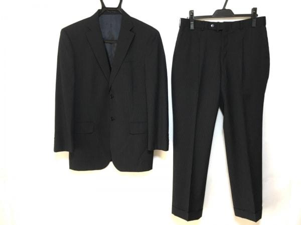 ピエールカルダン シングルスーツ メンズ美品  ストライプ/肩パッド/ネーム刺繍