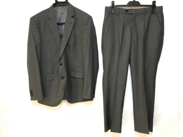 メイルアンドコー シングルスーツ サイズA5 メンズ美品  グレー×ダークグレー