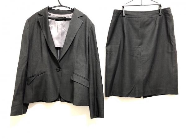 マサキマツシマ スカートスーツ レディース ダークグレー 肩パッド