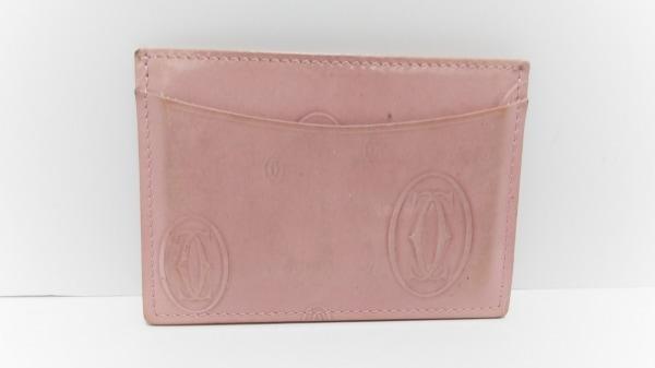 Cartier(カルティエ) カードケース ハッピーバースデー ピンク エナメル(レザー)