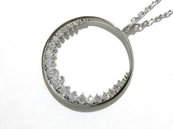オレフィーチェ ネックレス新品同様  Pt950×Pt850×ダイヤモンド ダイヤ0.34カラット