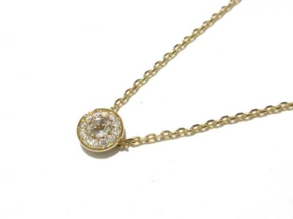 オレフィーチェ ネックレス美品  K18YG×ダイヤモンド 1Pダイヤ/ダイヤ0.10カラット