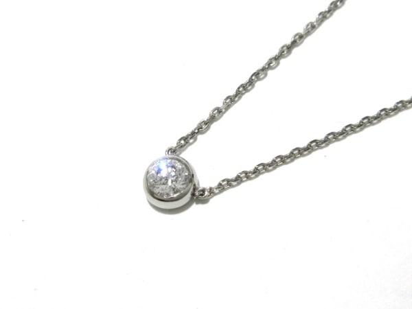 オレフィーチェ ネックレス美品  Pt950×Pt850×ダイヤモンド 1Pダイヤ/0.26カラット