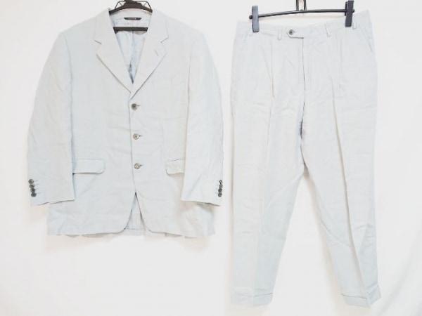 LANVIN(ランバン) シングルスーツ サイズ50 XL メンズ ライトブルー ネーム刺繍
