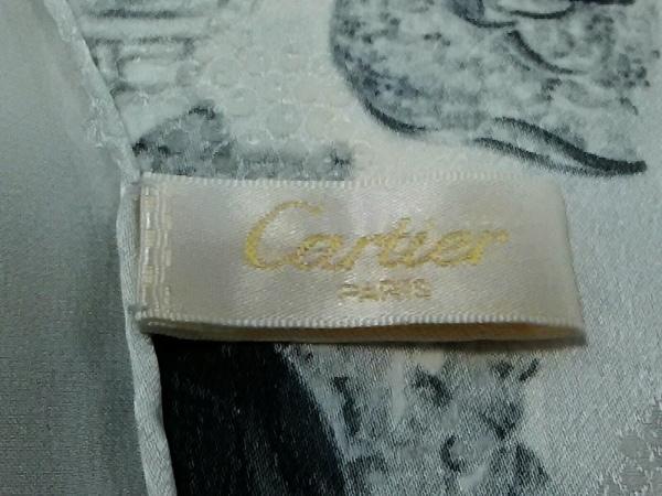 Cartier(カルティエ) スカーフ美品  グレー×アイボリー×ダークグレー