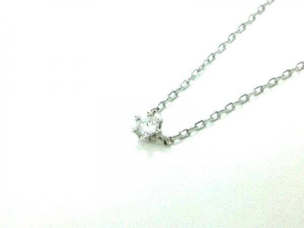 オレフィーチェ ネックレス Pt950×Pt850×ダイヤモンド 1Pダイヤ/ダイヤ0.05カラット