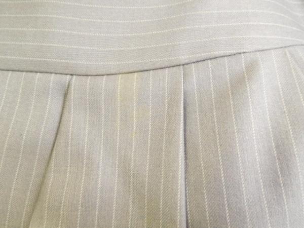 9d9621ca6ba791 ... インディビ スカートスーツ サイズ38 M レディース ライトグレー×白 ストライプ ...