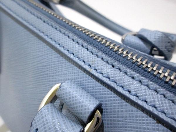 プラダ ハンドバッグ美品  サフィアーノリュクス(レザー) BL846Y ライトブルー レザー