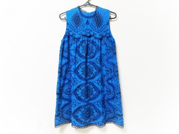 シーニューヨーク ワンピース サイズ0 XS レディース美品  ブルー×ネイビー