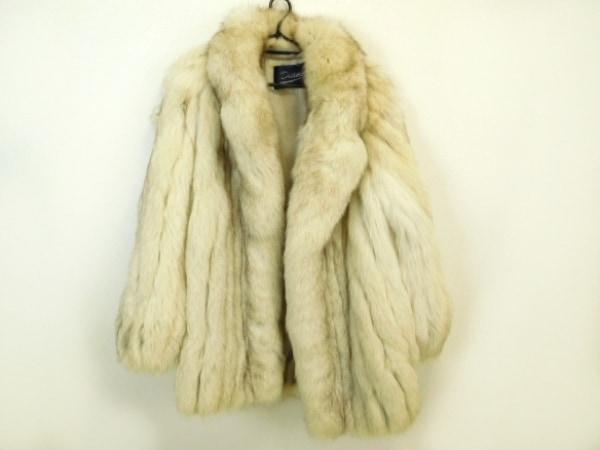 サガフォックス コート サイズ20 レディース美品  アイボリー×ブラウン DIANA/冬物