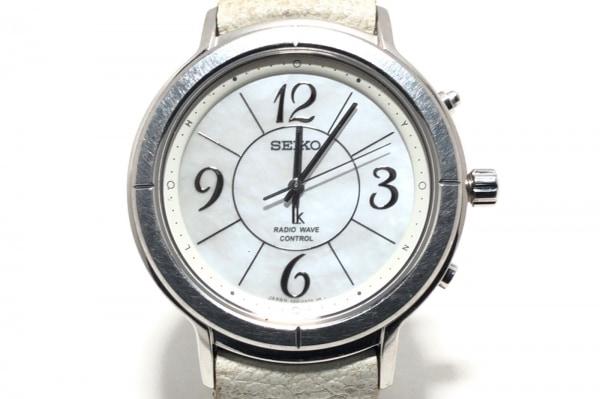 SEIKO(セイコー) 腕時計 5B21-0AF0 レディース 革ベルト 白