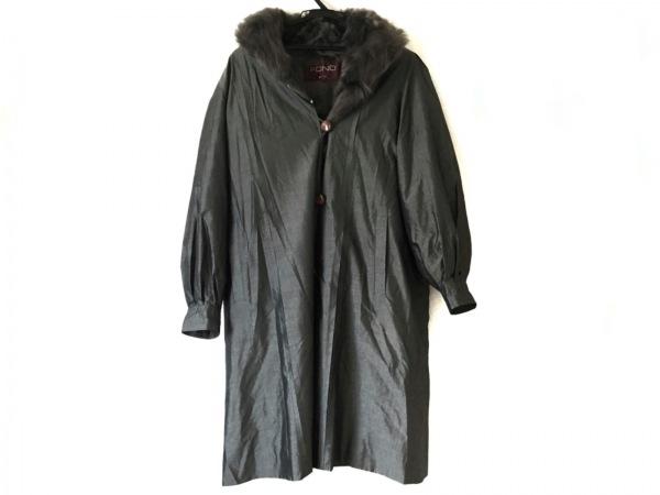 Moon Bat Fur(ムーンバットファー) コート レディース ダークグレー×ダークブラウン