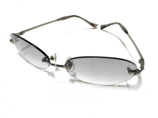 クードシャンス サングラス美品  グレー×シルバー プラスチック×金属素材
