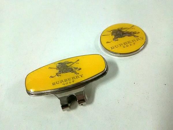 BURBERRYGOLF(バーバリーゴルフ) 小物美品  イエロー×シルバー 金属素材