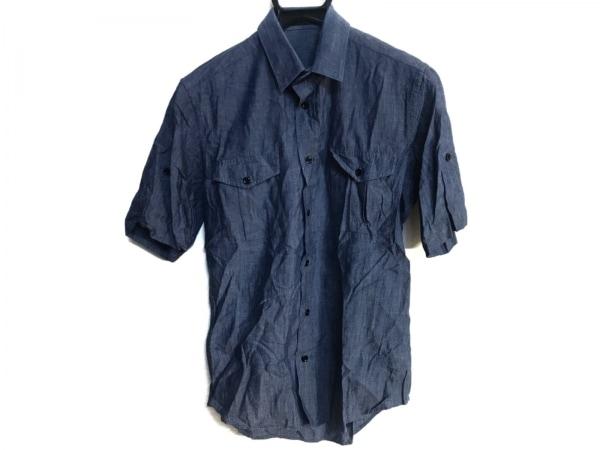 LITHIUMHOMME(リチウムオム) 半袖シャツ メンズ ブルー