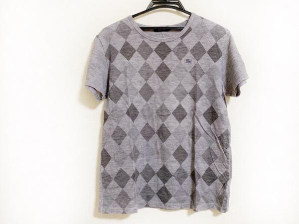 バーバリーブラックレーベル 半袖Tシャツ サイズ3 L メンズ グレー×ダークグレー