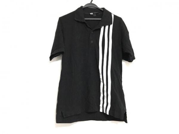 Y-3(ワイスリー) 半袖ポロシャツ サイズS メンズ美品  黒×白 adidas