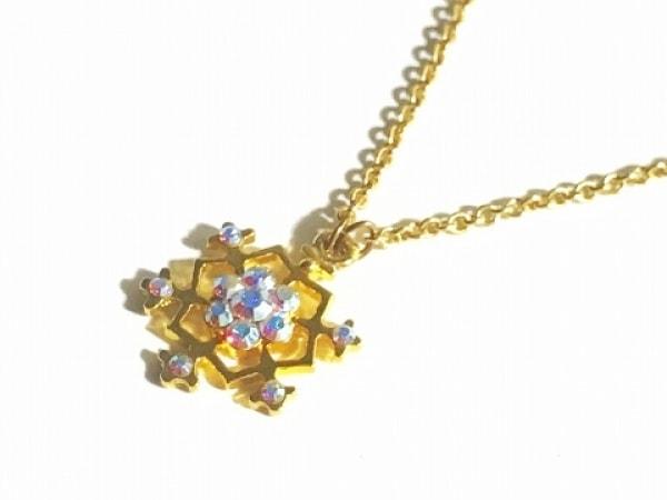ミハエルネグリン ネックレス美品  金属素材×ラインストーン ゴールド×白 雪の結晶