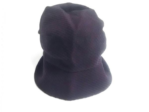 CA4LA(カシラ) 帽子美品  パープル ウール×化学繊維