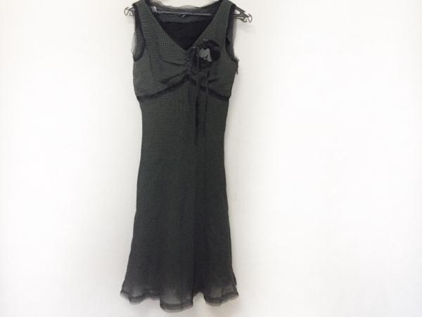 エムズグレイシー ワンピース サイズ40 M レディース美品  黒×ダークグレー×白