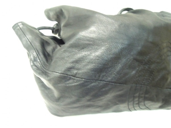SEASIDE FREERIDE(シーサイドフリーライド) トートバッグ 黒 巾着型 レザー