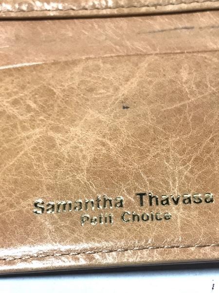 サマンサタバサプチチョイス 3つ折り財布 ブラウン レザー 5