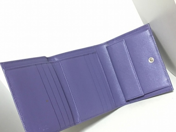PRADA(プラダ) 3つ折り財布 - パープル レザー