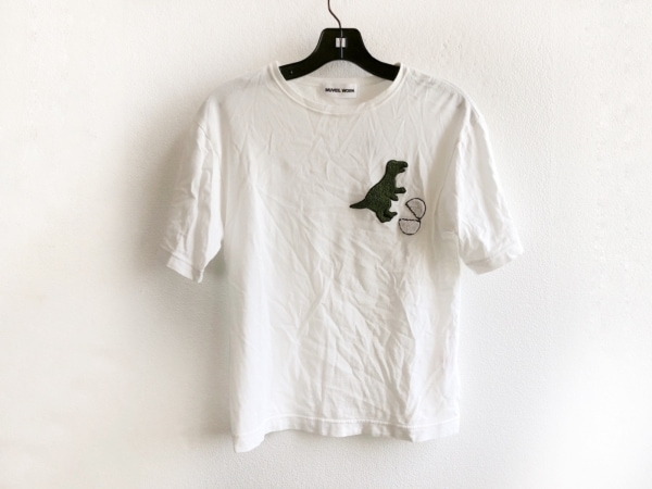 MUVEIL WORK(ミュベールワーク) 半袖Tシャツ サイズ38 M レディース 白×グリーン