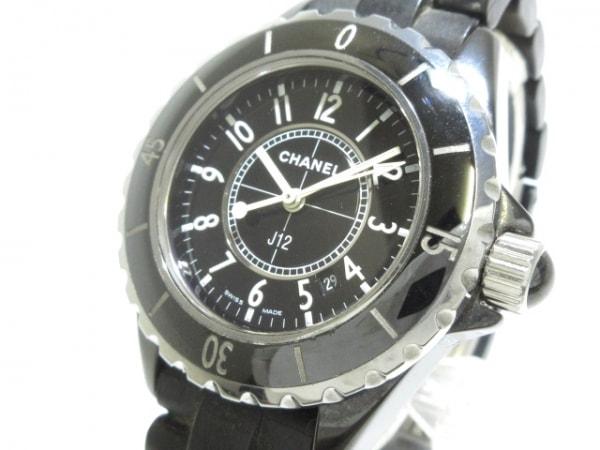 2a3b14fdd04a CHANEL(シャネル) 腕時計 J12 H0681 レディース 33mm/セラミック×ラバーベルト 黒