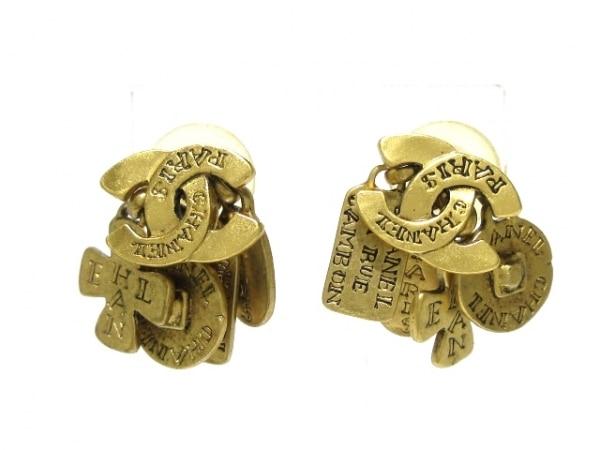 af80b003fa46 CHANEL(シャネル) ピアス 金属素材 ゴールド ココマークの中古   CHANEL ...