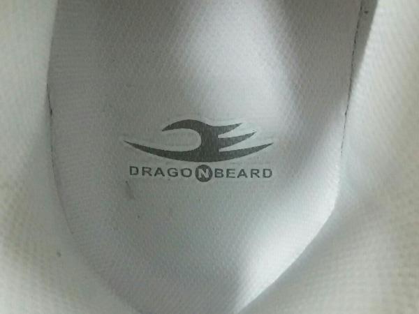 DRAGONBEARD(ドラゴンベアード) スニーカー メンズ美品  白×シルバー ラメ