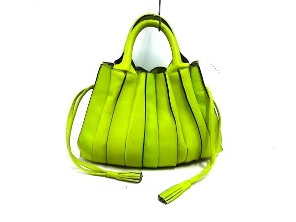 LUPO(ルポ) ハンドバッグ ライトグリーン 巾着型/タッセル レザー